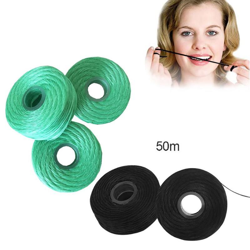 Mundhygiene Verantwortlich Dental Flosser Integrierten Spule Wachs Mint Bambus Holzkohle Ersatz Flach Draht Zahnseide 50 Mt/rolle Verpackung Der Nominierten Marke