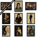 Майкл Джексон рок-музыка ретро плакат Старинные плакаты крафт-бумаги декоративные наклейки