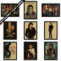 Michael Jackson música rock cartel retro Vintage carteles de papel kraft etiqueta de la pared decorativos