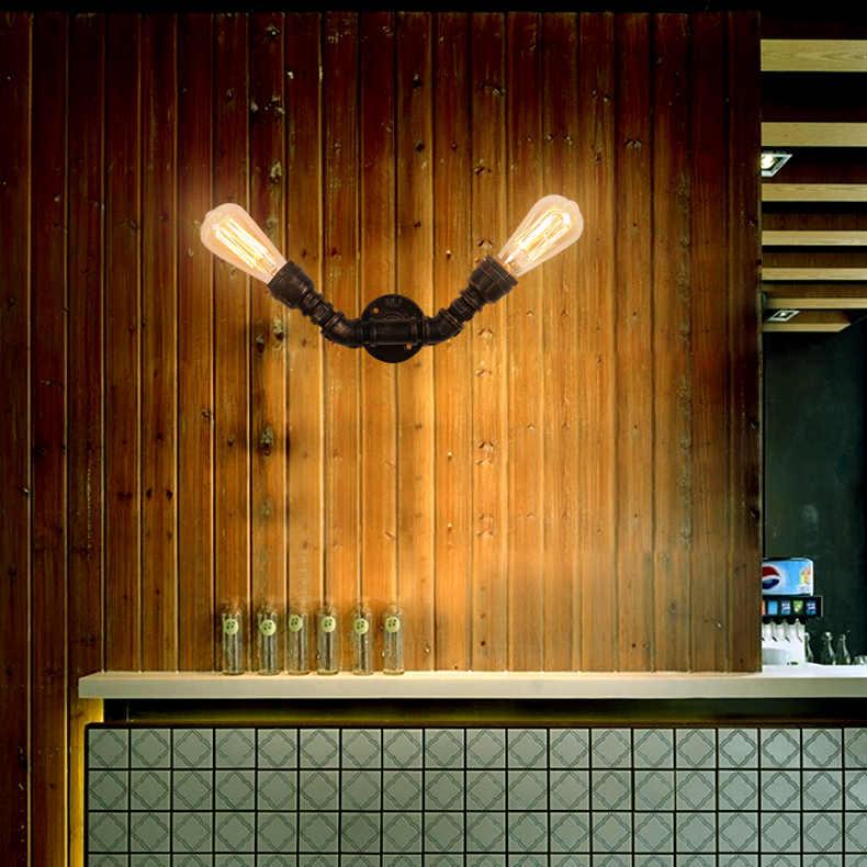 شريط الرجعية الصناعية علوي شخصية الأمريكية التعاقد غرفة الجلوس الزينة غرفة نوم الجدار مصباح ، المطاوع الحديد الأنابيب