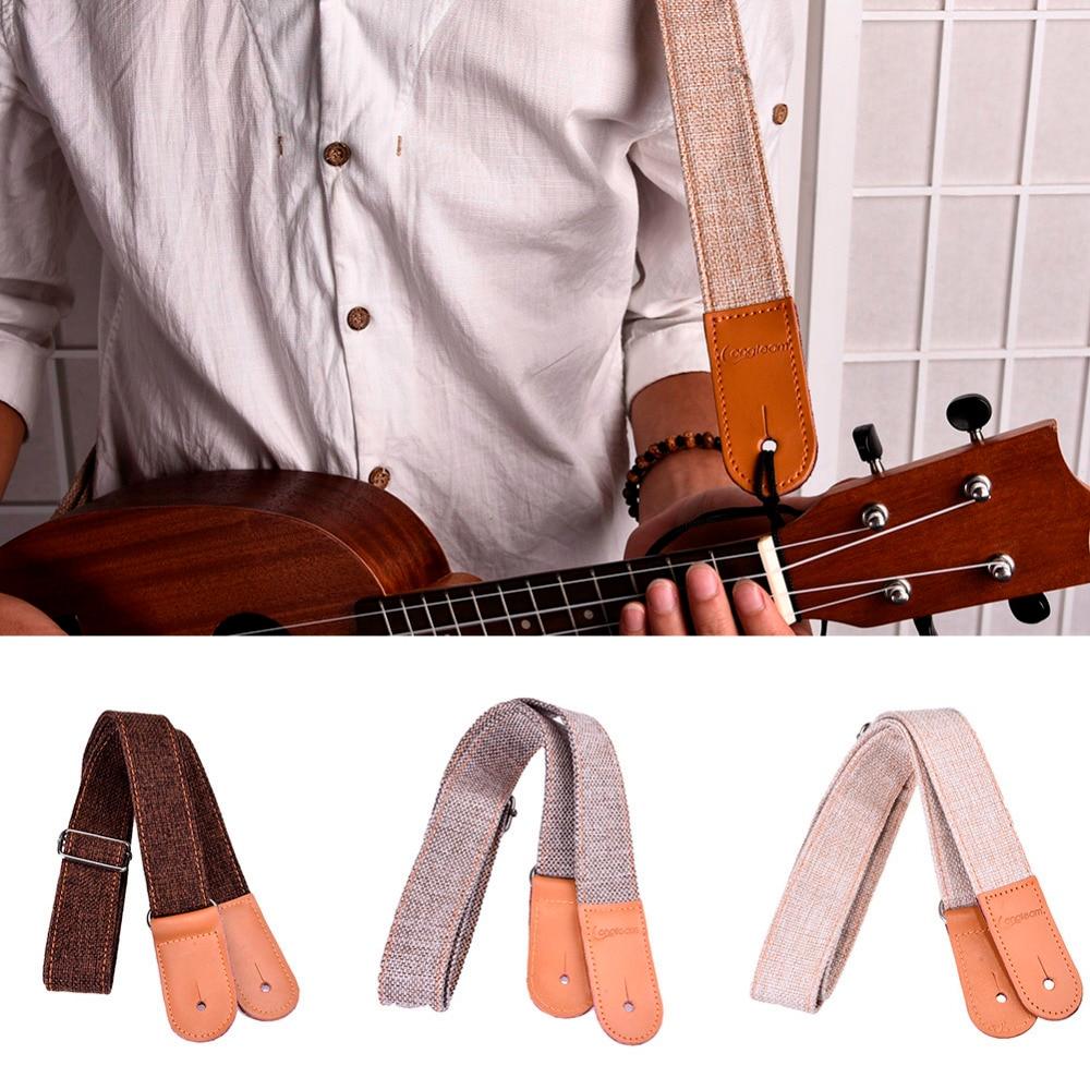Ukelele deel katoen en linnen ukelele bandjes met 1 set gespen zachte - Muziekinstrumenten - Foto 2
