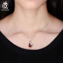 Fashion 925 Sterling Silver Red Natural Stone Dolphin Pendant Necklaces for Women