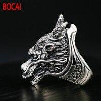 Ретро Тайский серебряные ювелирные изделия Серебряное кольцо S925 властная ведущих личности человека Кольцо Личность один питания кольцо