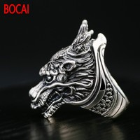 Retro Thai silver jewelry silver ring S925 domineering leading personality man ring personality single food ring