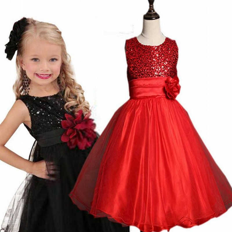 Flower Girl Dress 11 Color with Rose Party Birthday Chirstening Dress For Baby Girl Princess Children Clothes Summer Girl Dress flower girls dress 11 color with rose party birthday chirstening dress for baby girl princess children toddler girl vest dresses