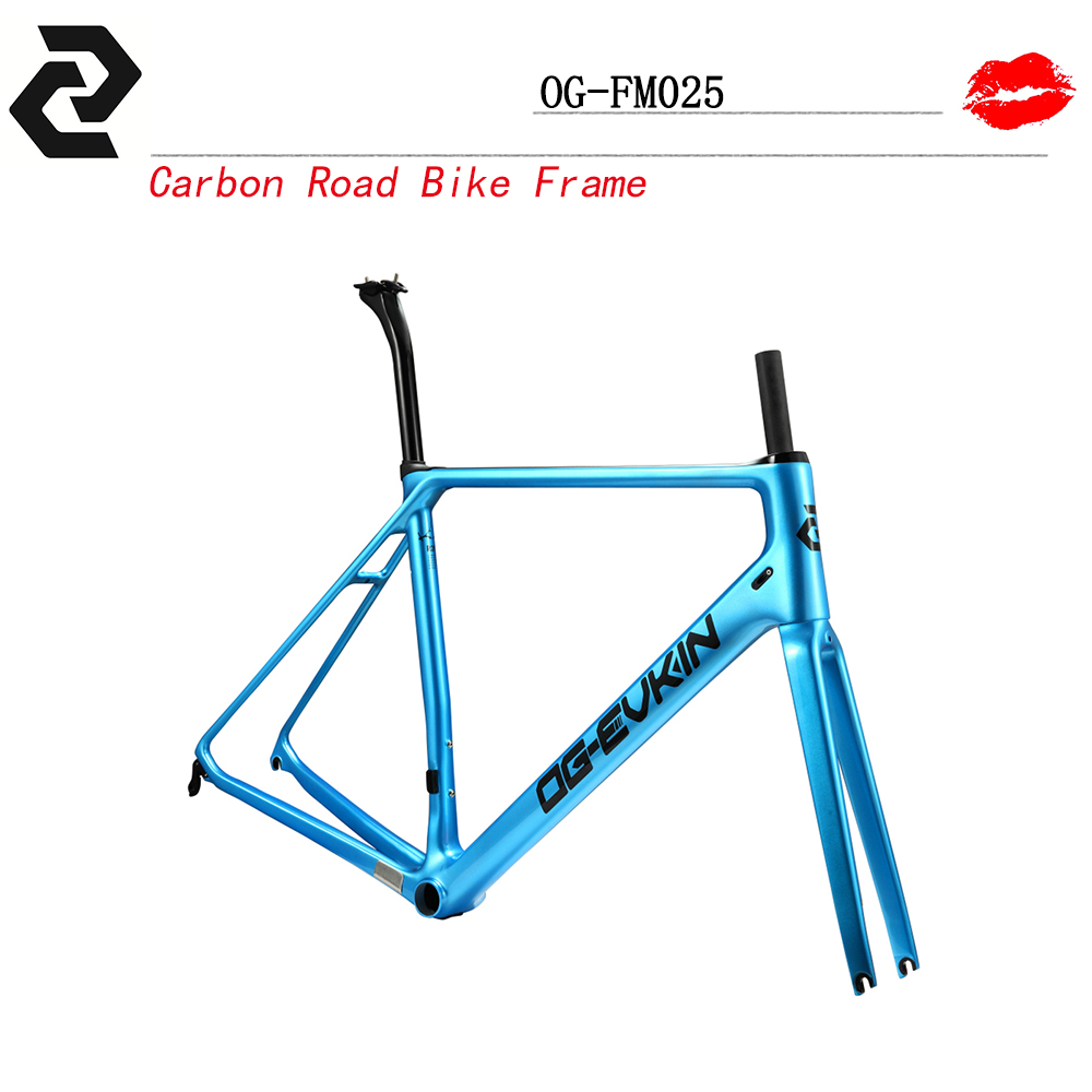 Цена за OG EVKIN велосипед топ продаж углерода велосипед дорога рама вилка подседельный зажимы гарнитура UD переплетения Легкие Di2 дороги углерода кадров