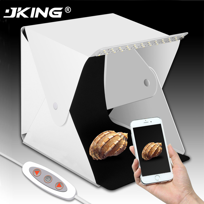JKING Folding Photography Studio Box lightbox Softbox LED Light box for iPhone Samsang HTC Smartphone Digital DSLR Camera