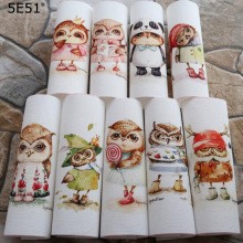 Handmade cloth DIY cotton canvas /Digital printed handmade fabric owl 15*15cm