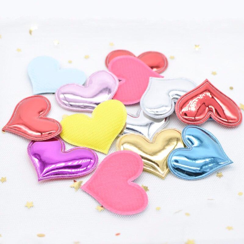 30 piezas Corazón Lentejuelas Apliques de fieltro acolchado Artesanía Kid/'s Doll LOTES U PICK B186