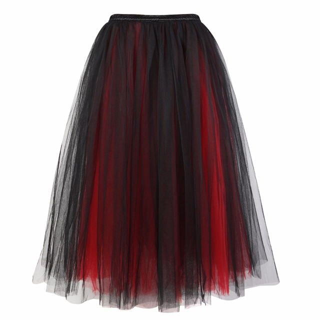 Sapubonva Women Skirt Princess Tutu Tulle Skirts Corsets and Bustiers  Fashion Ball Gown Lolita Long Skirt Mesh Plus Size Sexy 7bf53143e8ea