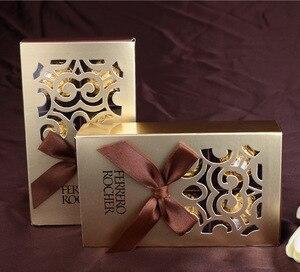 Image 3 - 20 قطعة من علب هدايا الزفاف من فيريرو روشر حقائب هدايا جميلة مستلزمات حفلات استحمام الطفل فيريرو صندوق حلوى للشوكولاتة
