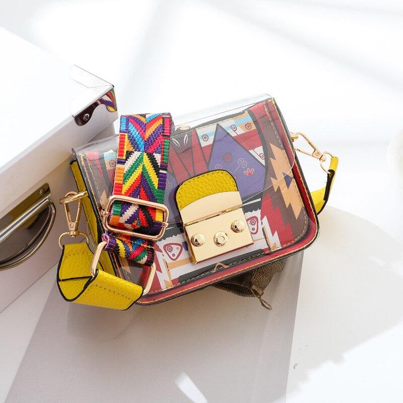 Small Bag Handbag Shoulder-Bags Funny Transparent Female for Girl Fruit-Bag Candy-Color
