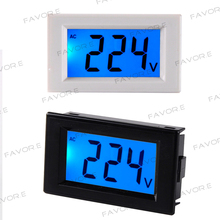 D85 AC Panel Meter LCD display blue backlight Digital Voltage meter tester Voltmeter range AC 80-500V цены