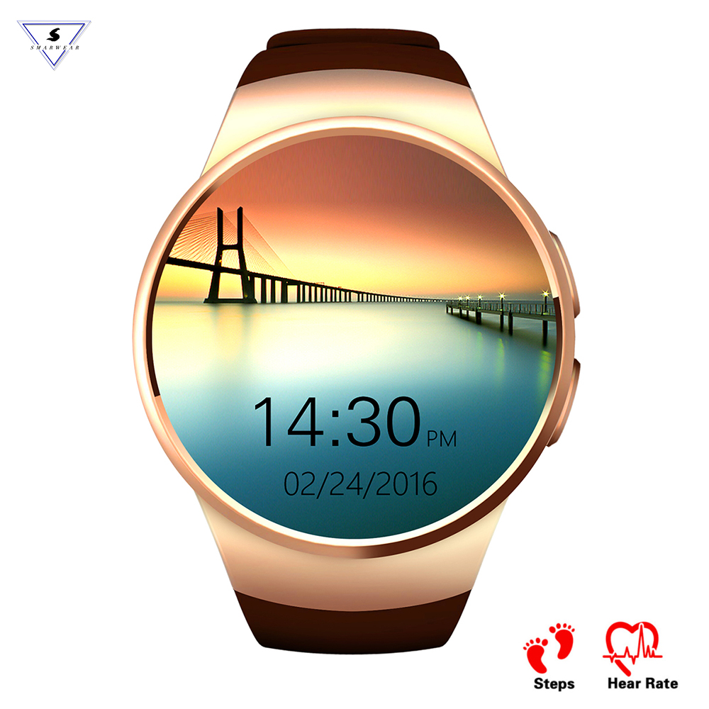 KW18 Fashion design Smart Watch Bluetooth Sleep Heart Rate Monitor Fitness Tracker 2G Smart Phone Call Remind Android IOS SIM TF цена