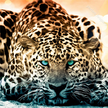 Diy diamond painting animal embroidery picture leopard full drill cross stitch crystal square  sets unfinish decorative CQ47