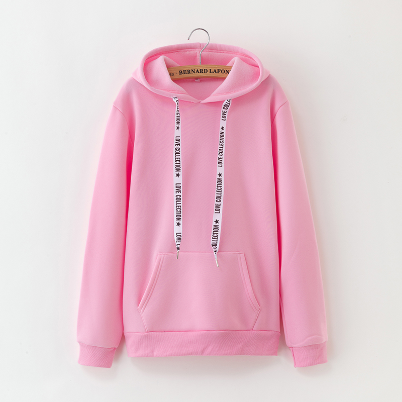Kpop New Harajuku Casual Coat Plus Velvet Tops 2019 Winter Fleece Pink Pullover Thick Loose Women Hoodies Sweatshirt Female Got7