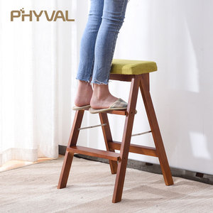Image 4 - Multi   functional เก้าอี้ Nordic Minimalist เฟอร์นิเจอร์แฟชั่นรองเท้าไม้โซฟาแบบพกพาบันไดเก้าอี้พับ
