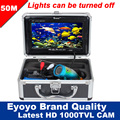 "Eyoyo Original 50m Underwater Fishing Video Camera Professional Fish Finder 7"" Color HD Monitor 1000TVL HD CAM Lights Control"