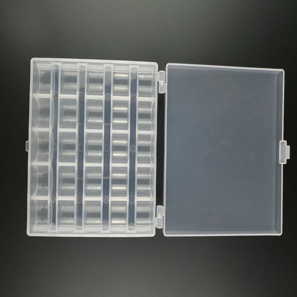 25 Solts Plastic Storage Box Case For Bobbins Spool Sewing Organiser Container