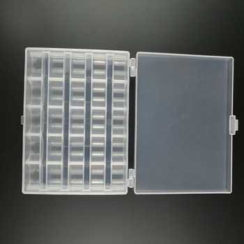 25 slotów puste szpule pudełko szpulka do maszyny do szycia obejmuje sztuka szycia obudowa z tworzywa sztucznego schowek na maszynę do szycia tanie i dobre opinie Ladygarden Części do Maszyn do szycia Haft Plastic
