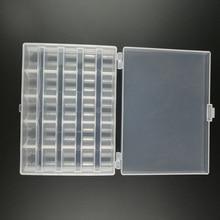 25 スロット空ボビンスプールボックスミシンボビンケースカバー縫製工芸品プラスチック収納ボックスミシン