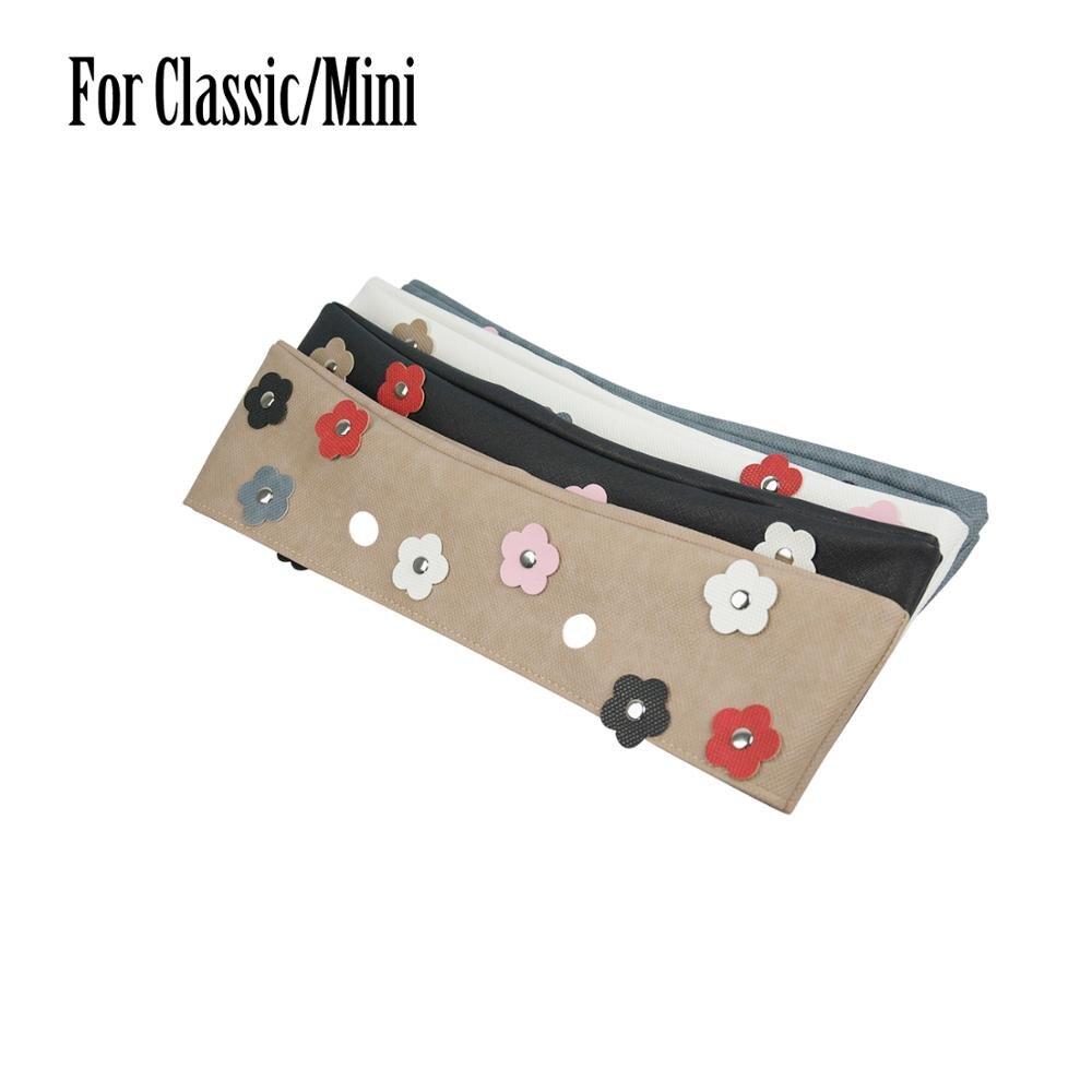 2019 New Rivet Flower PU Trim Thin Decoration For Obag Summer For Women Handbag Classic Mini For O Bag Body