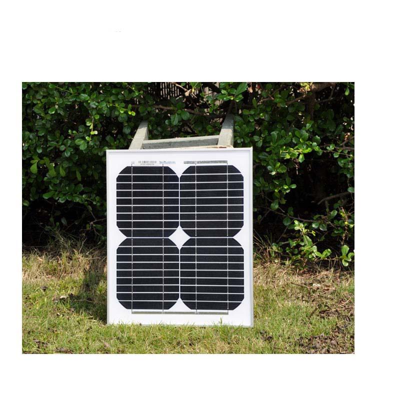 high efficiency 10w solar panel 18v monocrystalline cells price 12v charge battery energy charger kit for home