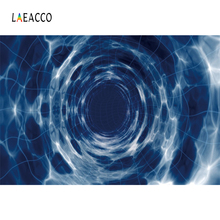 Laeacco Unique 3D Cloud Hole Net Corridor Scenic Photo Backgrounds Customized Photography Backdrops For Studio