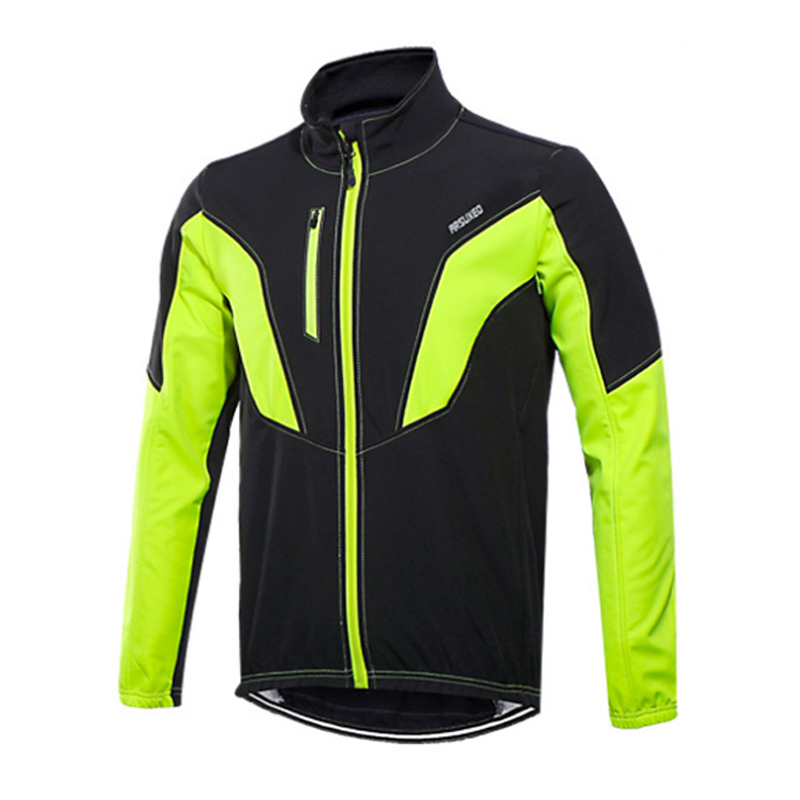 d26e20453 Winter Fleece Thermal Cycling Jacket Outdoor Sports Windproof Cycling  Jersey Coat Reflective Stripe Cycling Clothing-in Cycling Jackets from  Sports ...