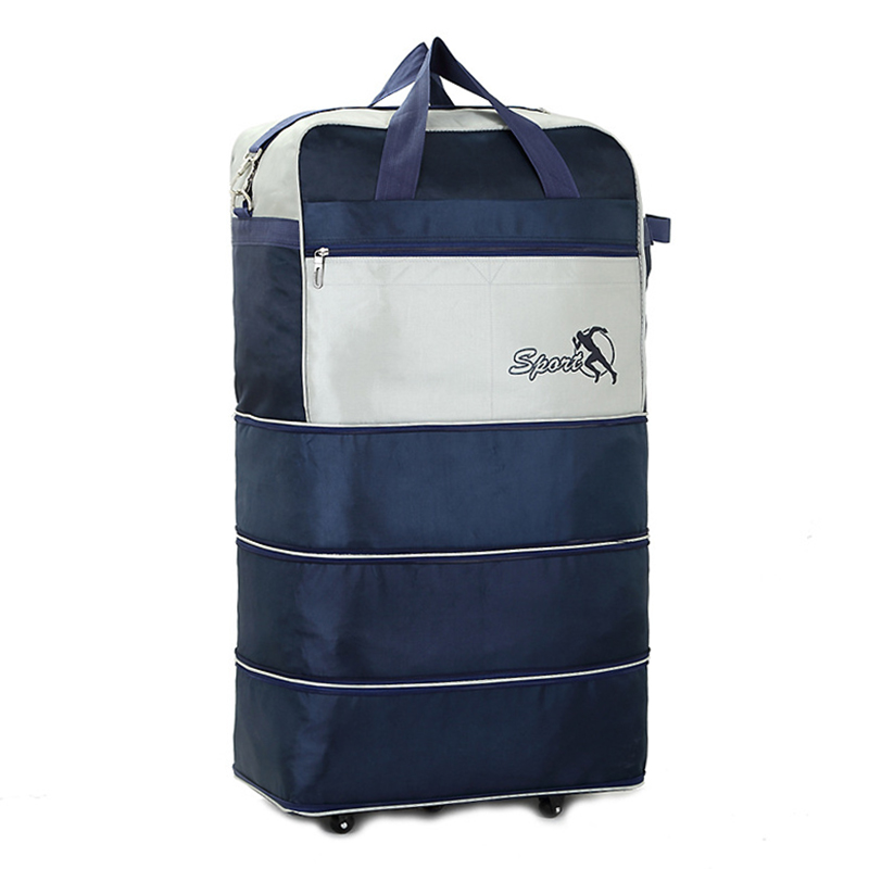Large Travel Bag On Wheels Oxford Airline Checked Bag Foldable Luggage Moving Storage Bag Multifunctional Men Travel Bags 27T