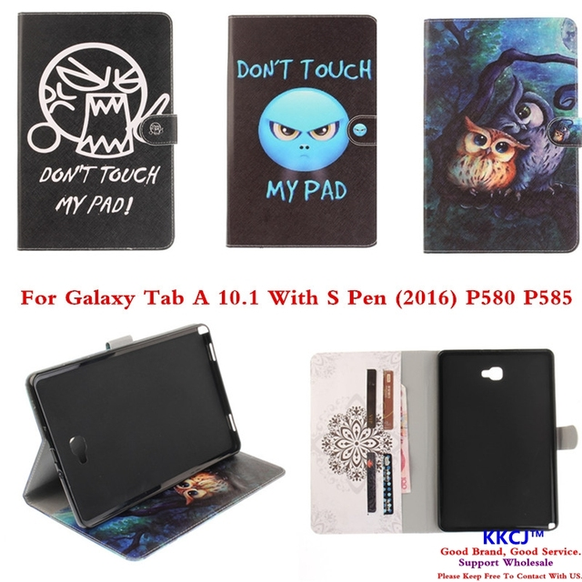 TX OWI Love Case For Samsung Galaxy Tab A A6 10.1 With S Pen P580 P585 Tablet PC PU Leather Stand Cover For SM-P580 SM-P585