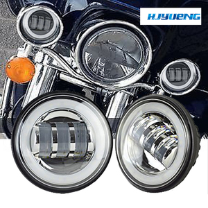 "Image 3 - 60w 7inch Led Headlights White Halo Angel Eye+2pcs 4.5""Inch Led Fog Lights Halo For 66 Touring Electra Glide Road"
