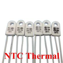 Motor de ventilador de temperatura, bainha elétrica 15a 250v 115c 125c 130c 135c 150c 180c 230c 240c grau fusível térmico