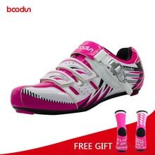 Boodun Women Lightweight Road Bike Shoes Outdoor Sport Self Lock Cycling Shoes Bicycle Racing Athletic Shoes