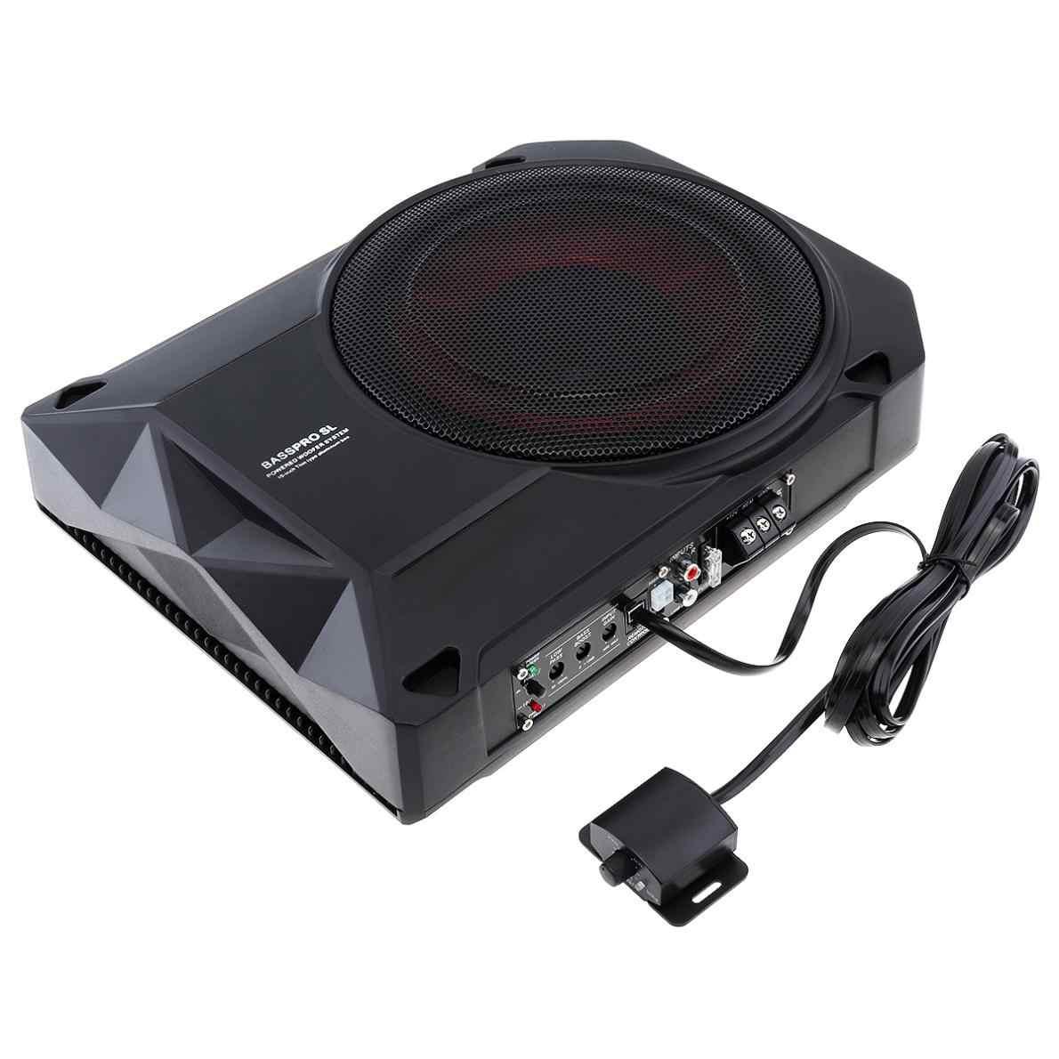 Universal Black 10 Inch 12V  600W Fuselage Slim Under Seat Car Active Subwoofer Bass Amplifier Speaker
