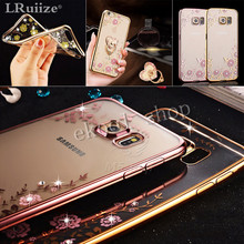 LRuiize Luxury style Plating Gilded silicone soft TPU Phone Case For Samsung Galaxy S8 S7 S6/Edge/Plus A3A5 A7 J3J5 J7 2016 2017
