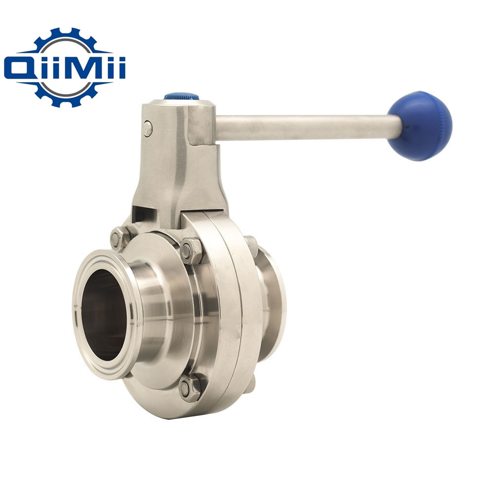 1''/1-1/4''/1-1/2''/2'' SS304 Stainless Steel Sanitary 1''/1.25''/1.5''/2'' Tri Clamp Butterfly Valve Flow Control