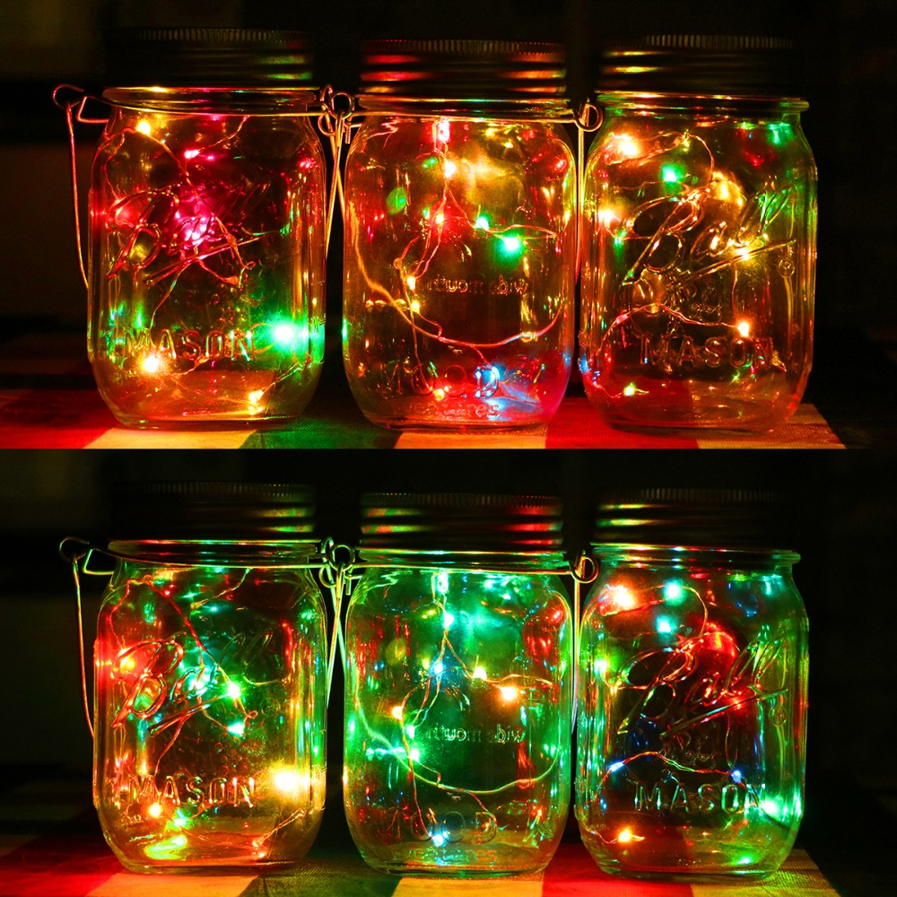 Solar Jars Aliexpresscom Buy 1pc Solar Mason Jar Fairy Light With Color