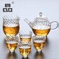 TANGPIN кофейные и чайные наборы стеклянный чайник с 4 чашками стеклянный чайный набор посуда для напитков для рождественских подарков