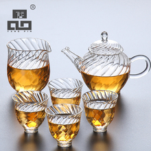 TANGPIN coffee and tea sets glass teapot with 4 teacups set drinkware for christmas gifts