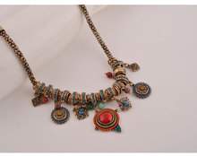 My Jewellery Statement Necklace Long Vintage Beads Necklace