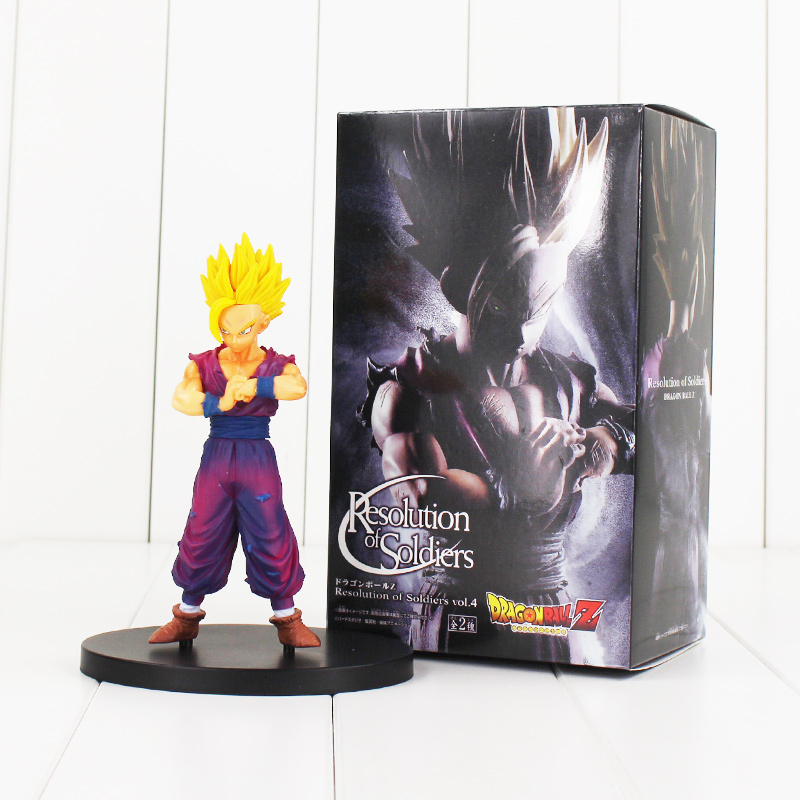 Anime Dragon Ball Z Son Gohan Resolution of Soldiers VOL 4 Son of Gokou Figure Trunks Super Seiya Action Figuras Model DBZ [pcmos] anime dragon ball z ros resolution of soldiers awaken son gokou 57 pvc figure 15cm 6in toys collection no box 5932 l