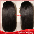Cheap New Yaki wigs 150% Density Heat Resisitant Black Long Kinky Straight Synthetic Lace Front Wig Quality Wigs For Black Women