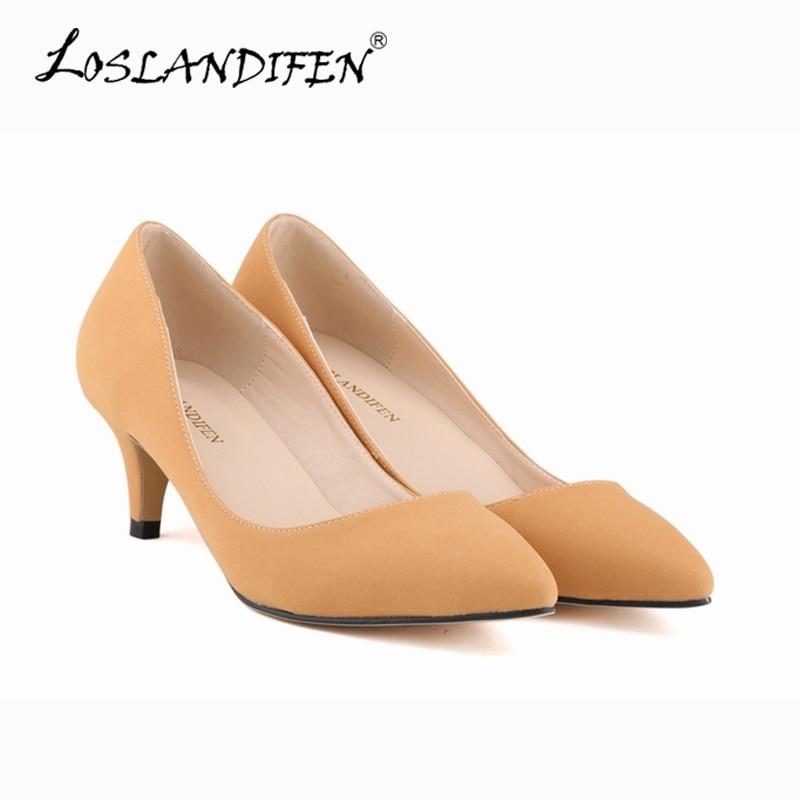 high thin heels pumps brand slip