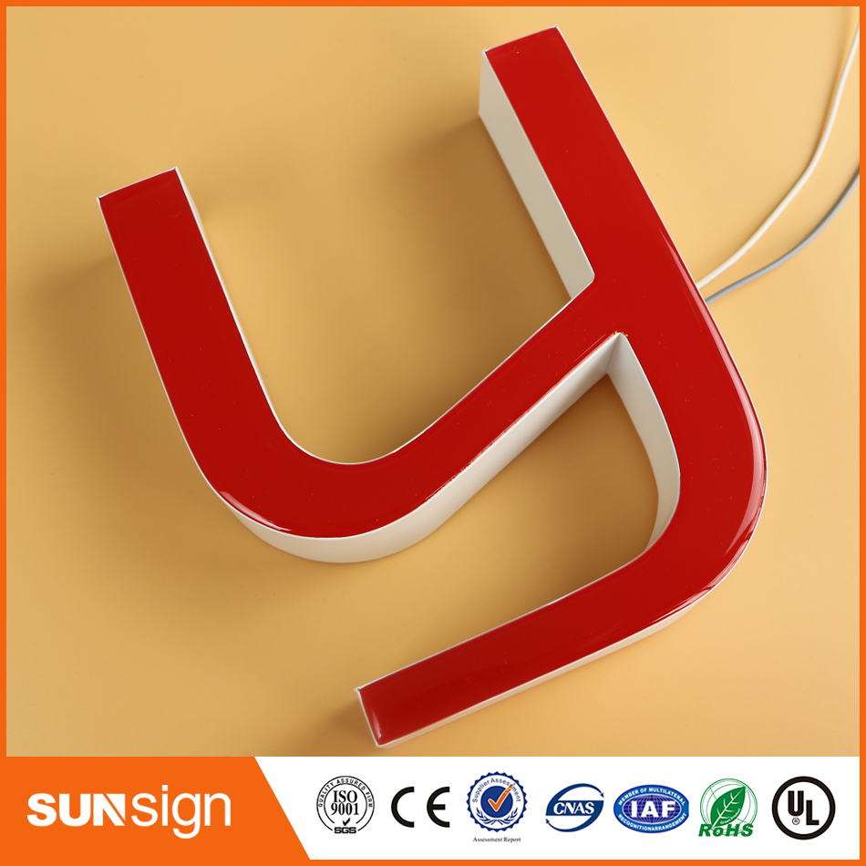Outdoor Waterproof Resin Epoxy Led Letters Signs Advertising Light Logos