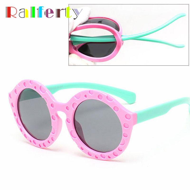 Kids Sunglasses Polarized 2016 Child Outdoor Goggle Safety Glasses Sun Round Brand Designer Flexible Rubber Oculos Infantil 8102