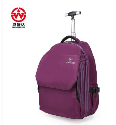Women Trolley Backpack Travel Luggage Bag wheeled Backpack Rolling bags Men Business bag luggage suitcase backpack on wheels