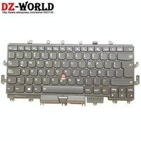جديد/أوريج سبا لاس أمريكا اللاتينية الإسبانية الخلفية لوحة المفاتيح ل ثينك باد X1 اليوغا 1st Teclado 01AW950 01AW935 SN20H34913 لوحات المفاتيح البديلة    -