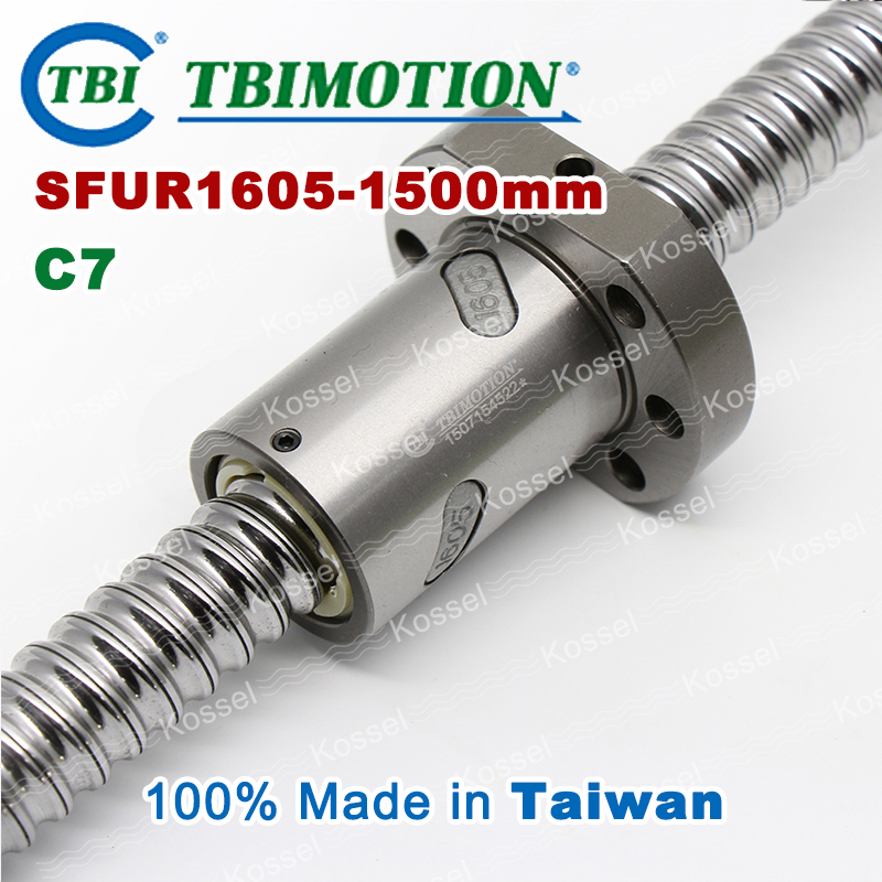 TBI 1605 C7 1500mm ballscrew with SFU1605 ball nut of BK12 BF12 set high stability CNC parts for machine SFU рубашка insight shirt heather grey