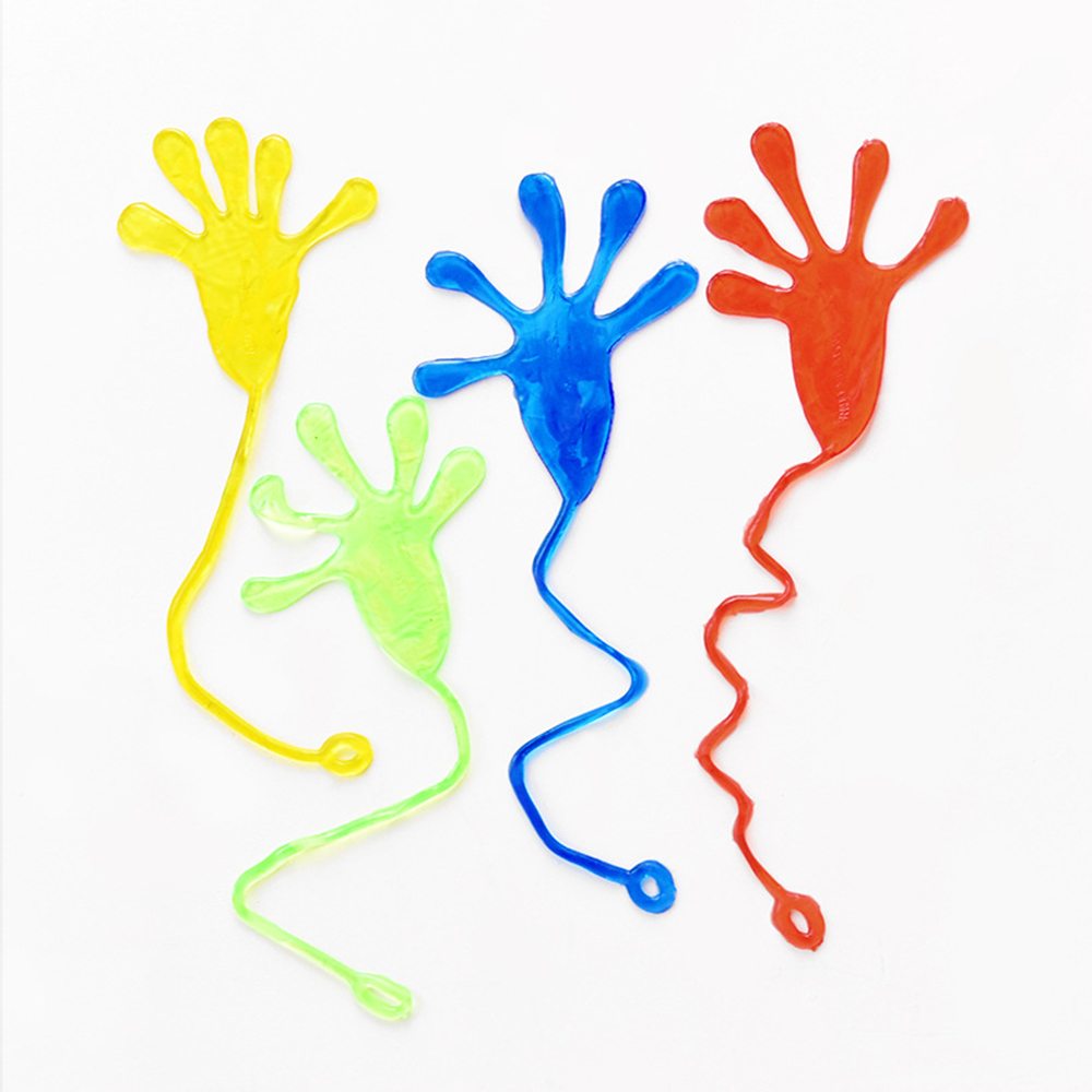 1pc Random Send Glitter Sticky Hands Toys Funny Gadgets Practical Jokes Squishy Party Prank Gifts Novelty Gags Toys For Children